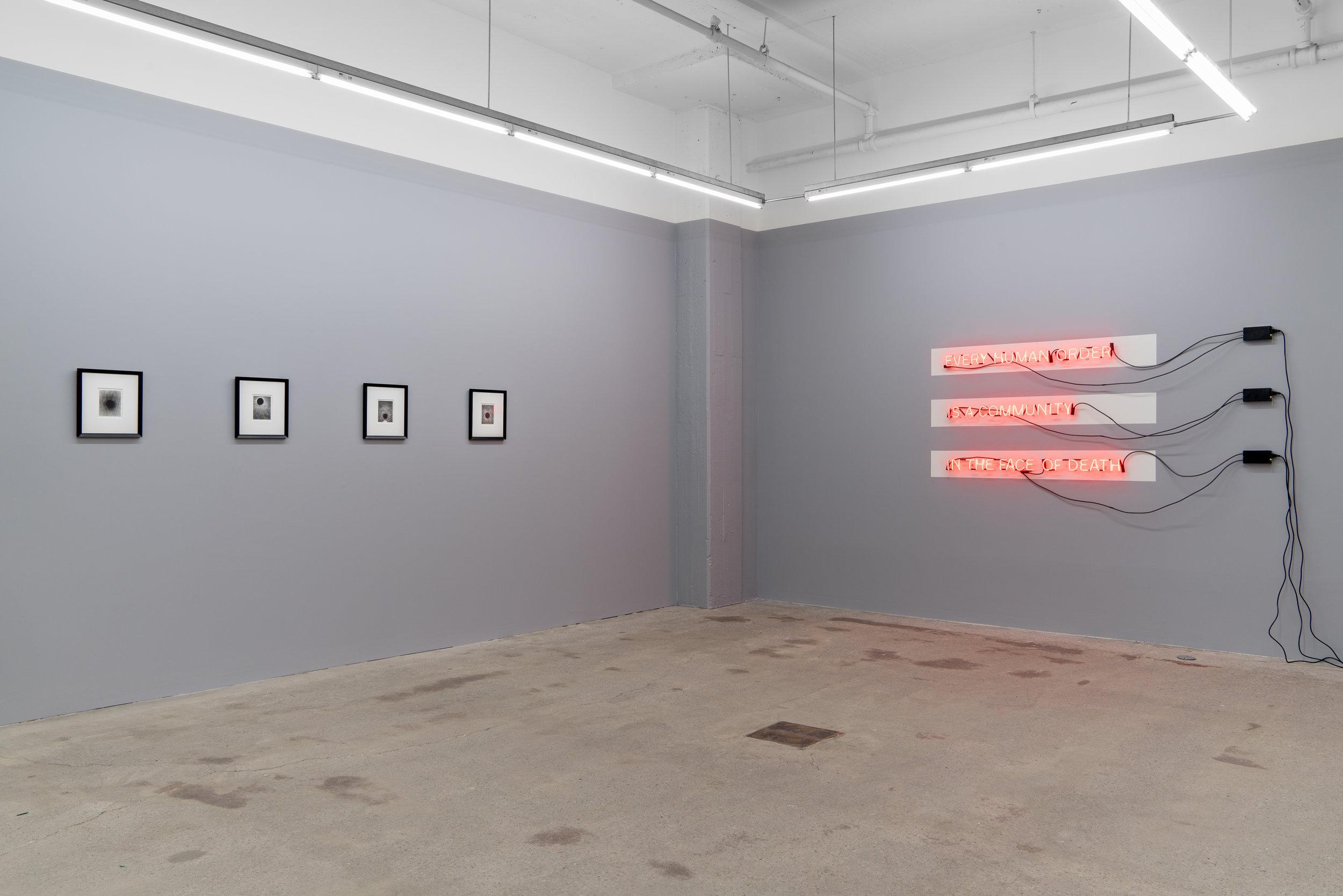 Das Gleitende - 2 , 2018, exhibition view, Galerie Nicolas Robert, photo : Jean-Michael Seminaro