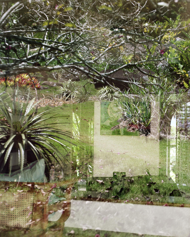 "Lorna Bauer,  Studio and garden , 2018, pigment print, 50"" x 40"" (127 x 102 cm)"