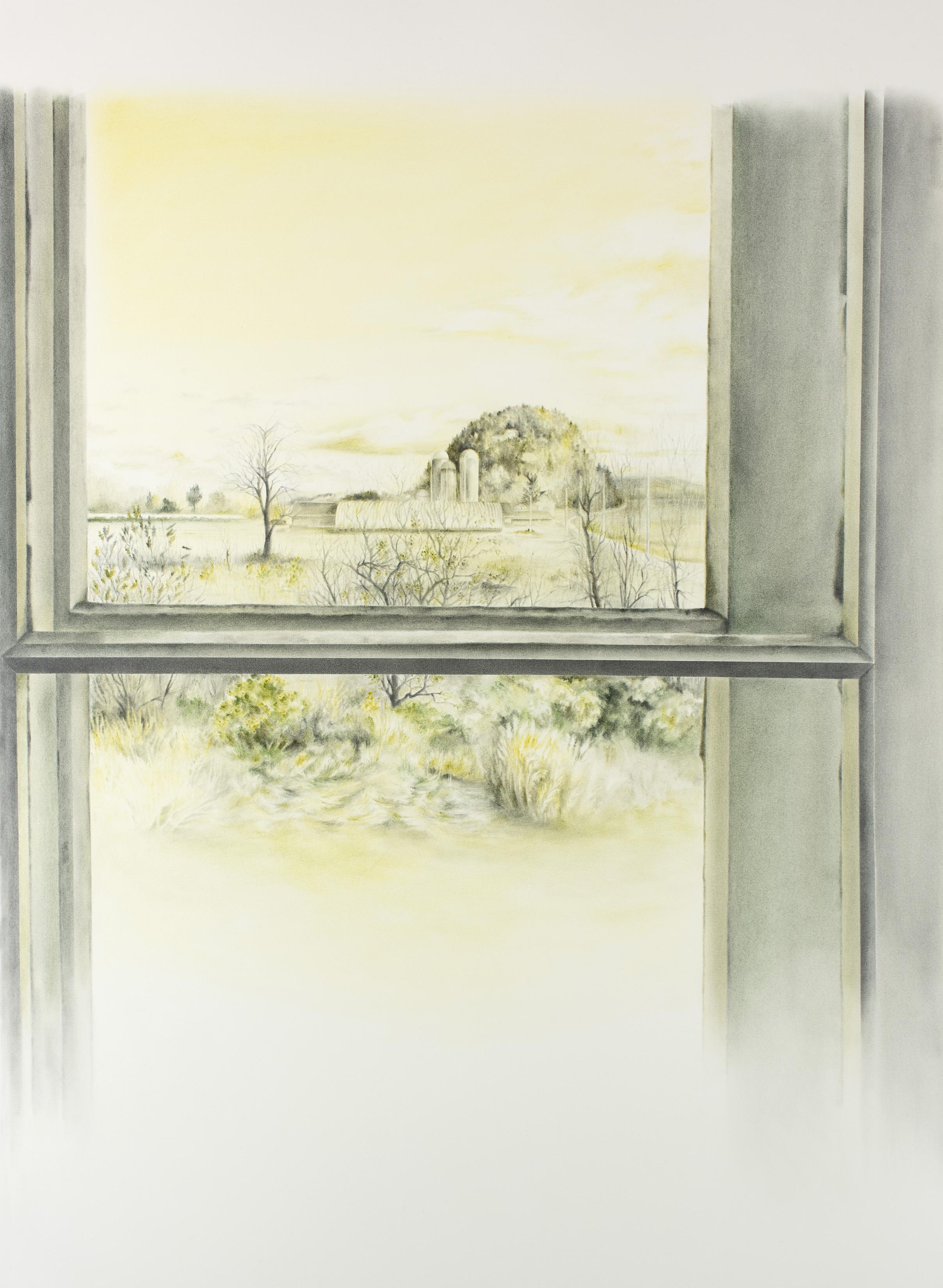 """Andréanne Godin,  Cabouron en novembre,  from the series  207 rang de l'Embarras , 2018, dry pigments on Arches paper, 51.5"""" x 31"""" (130 x 79 cm)"""