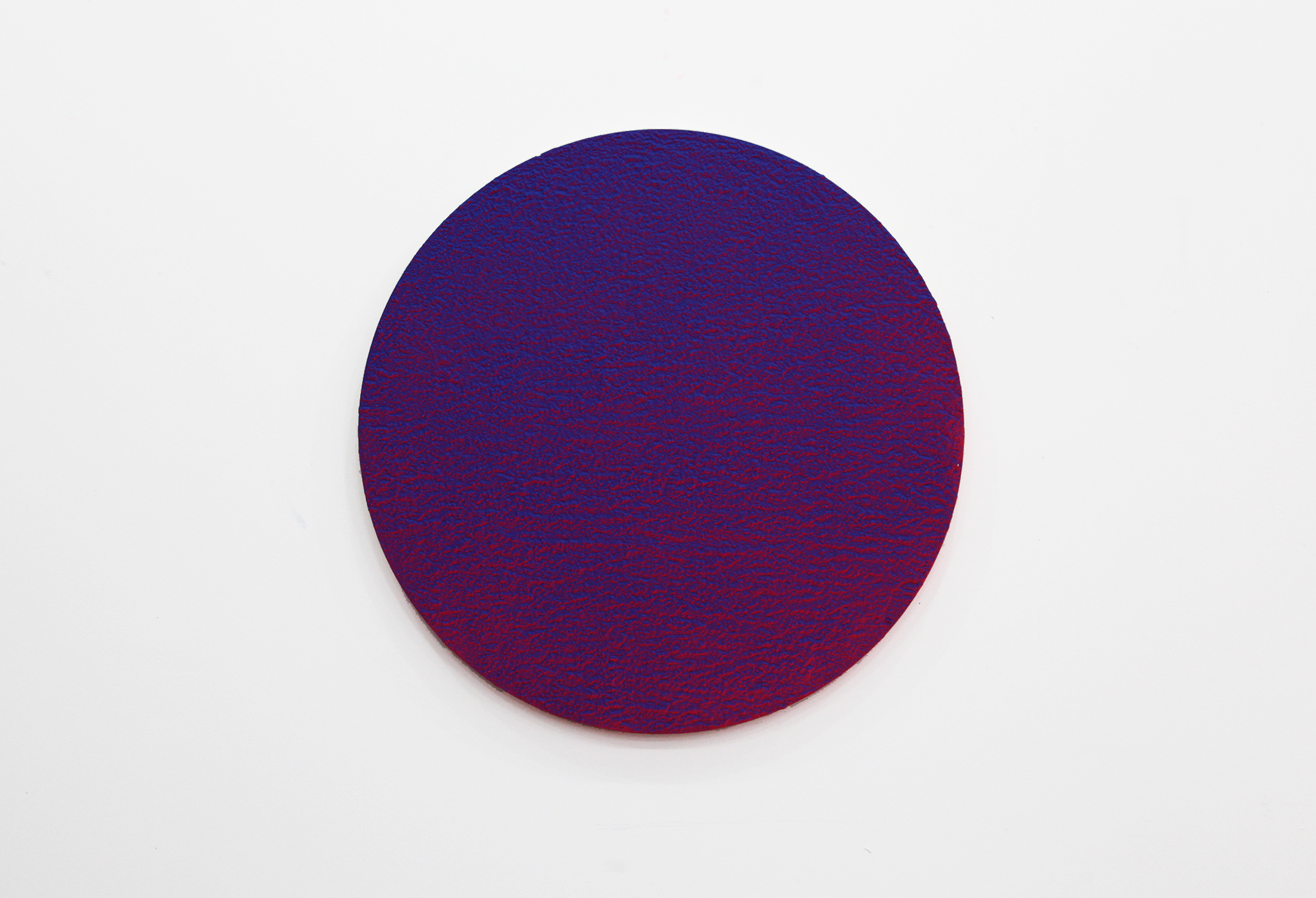"""Pierre Julien,  In the Deepest Oceans - C001 , 2018, stucco, acrylic and spray paint on wood panel, 30"""" (76 cm) of diameter"""