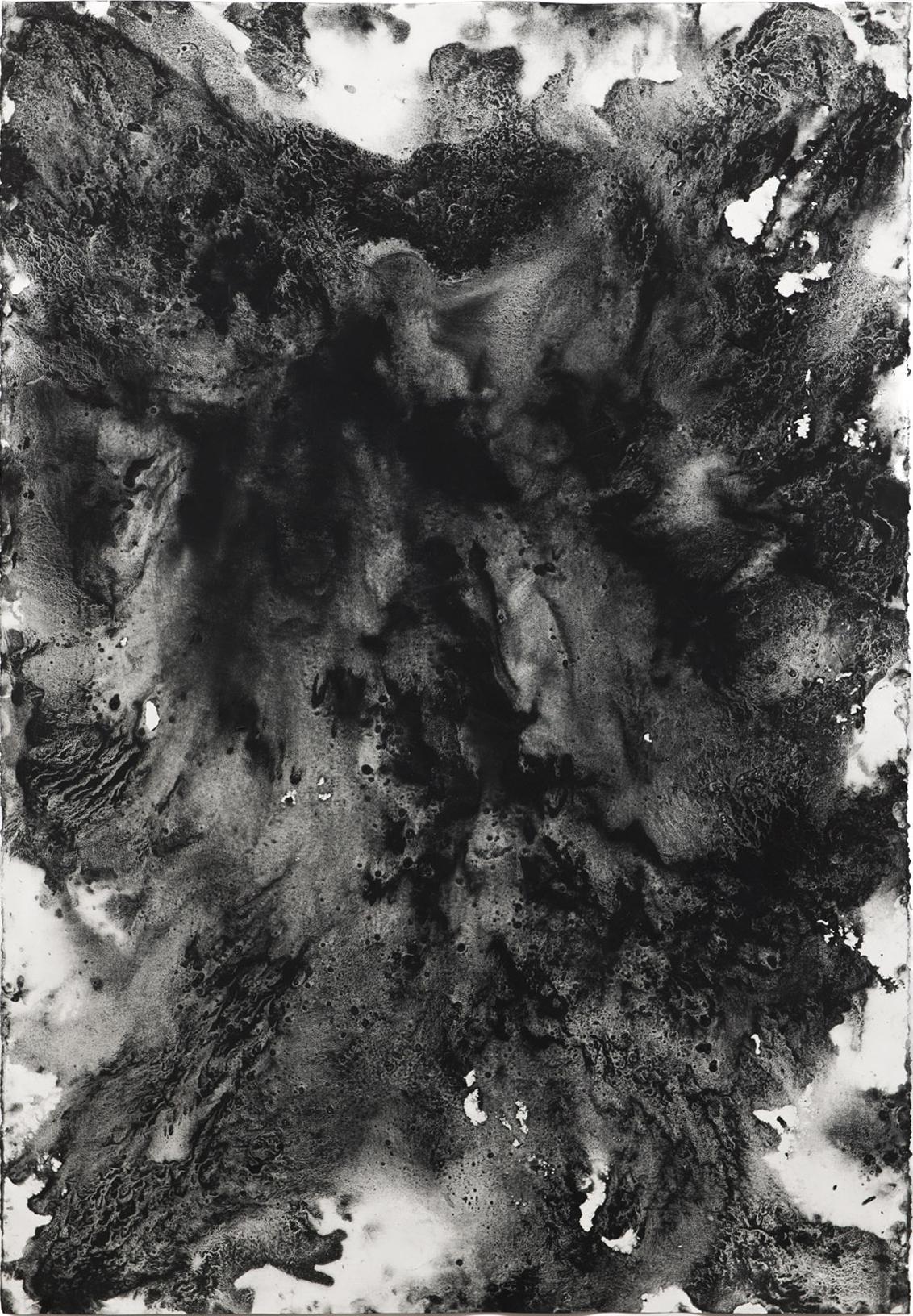 "Carl Trahan, Ohne Titel 2 , 2018, graphite on paper, 44"" x 30"" (111 x 77 cm)"