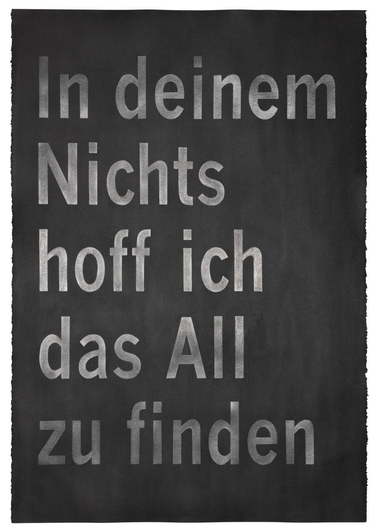 """Carl Trahan,  In deinem Nicht , 2018, graphite on paper, 44"""" x 30"""" (111 x 77 cm)"""