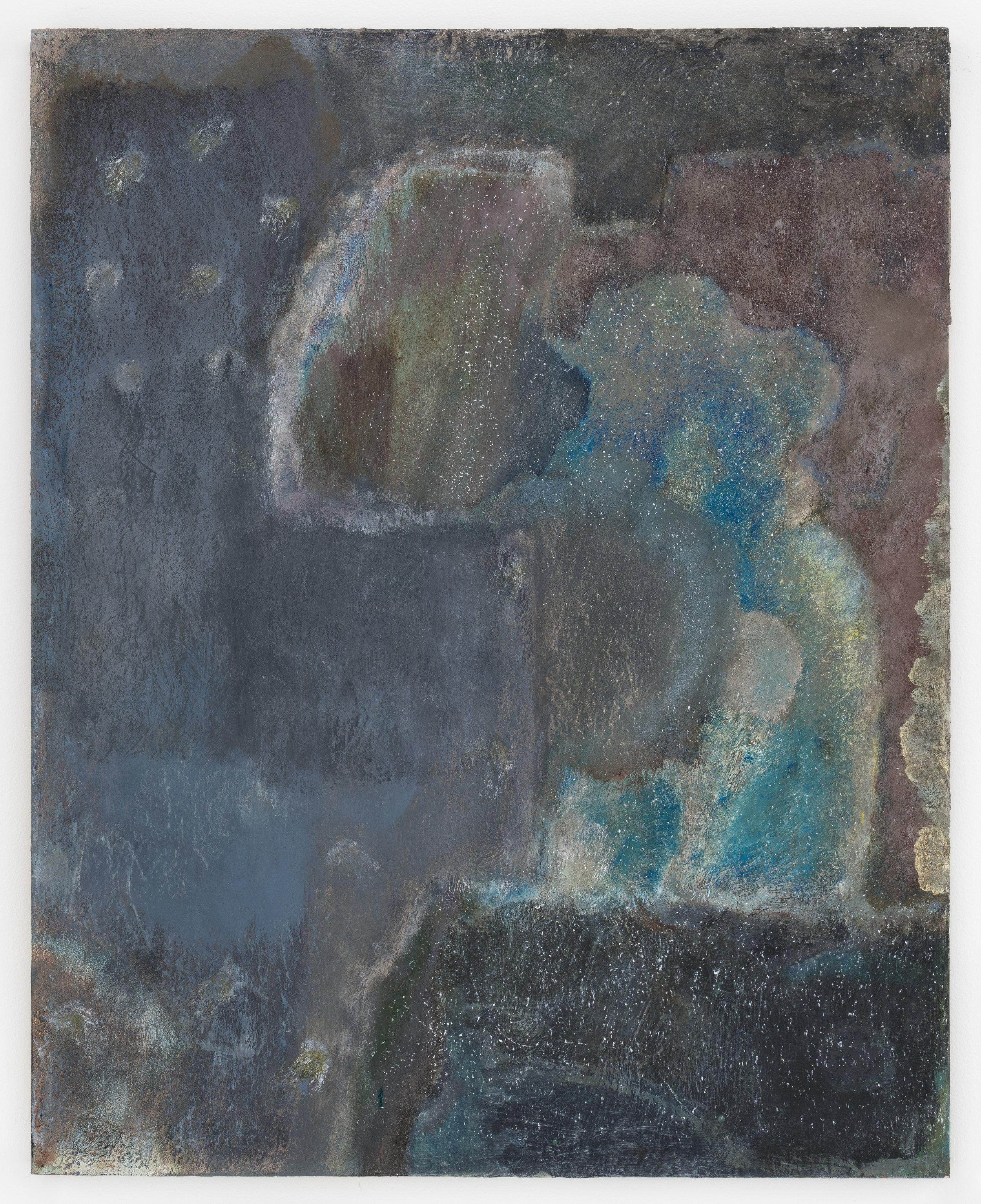 """Laurence Pilon,  Constat d'été , 2018, oil on panel. 20"""" x 16"""" (51 x 41 cm)"""