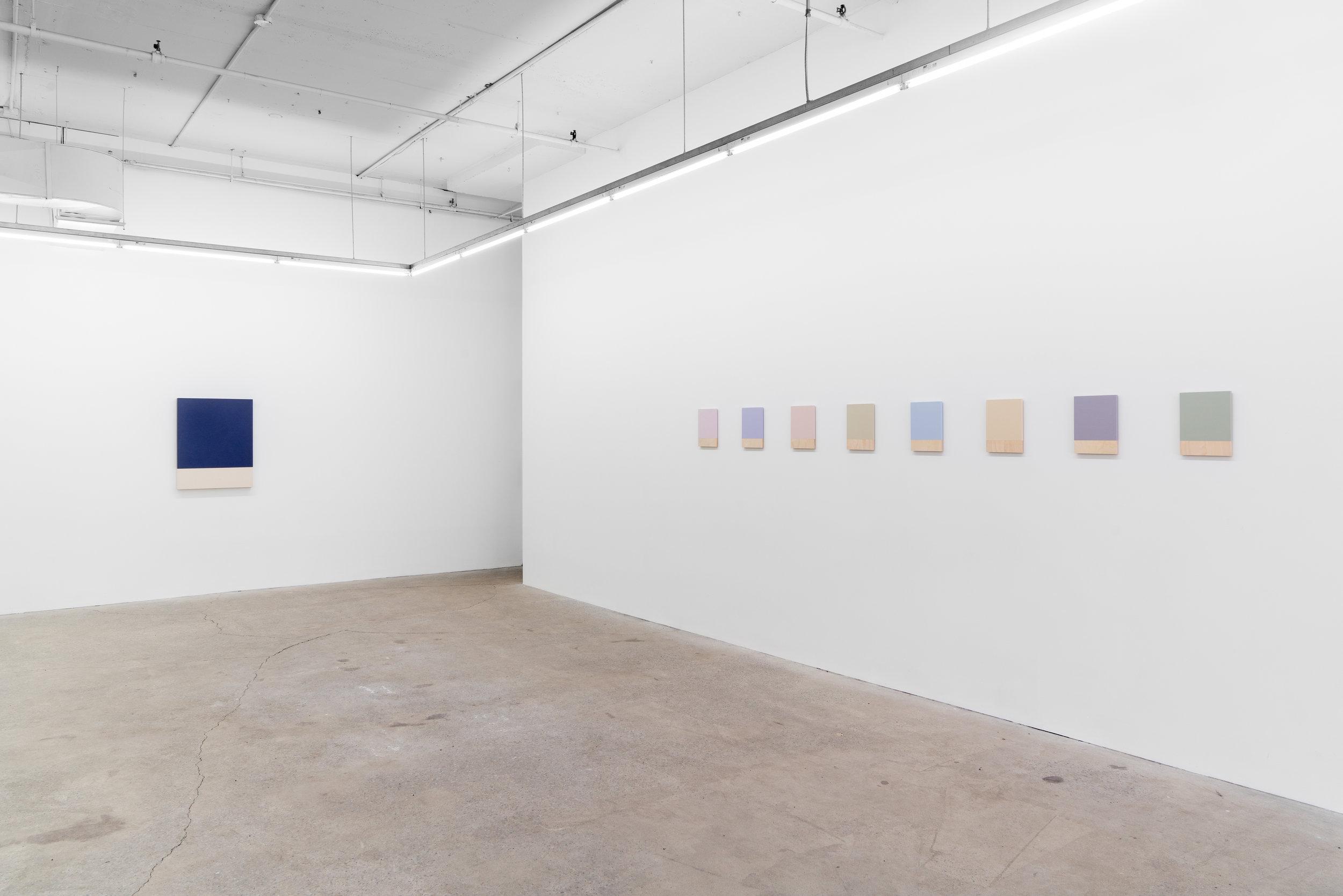 Guy Pellerin,  La couleur des lieux, Lisbonne , 2018, exhibition view, Galerie Nicolas Robert, photo : Jean-Michael Seminaro.