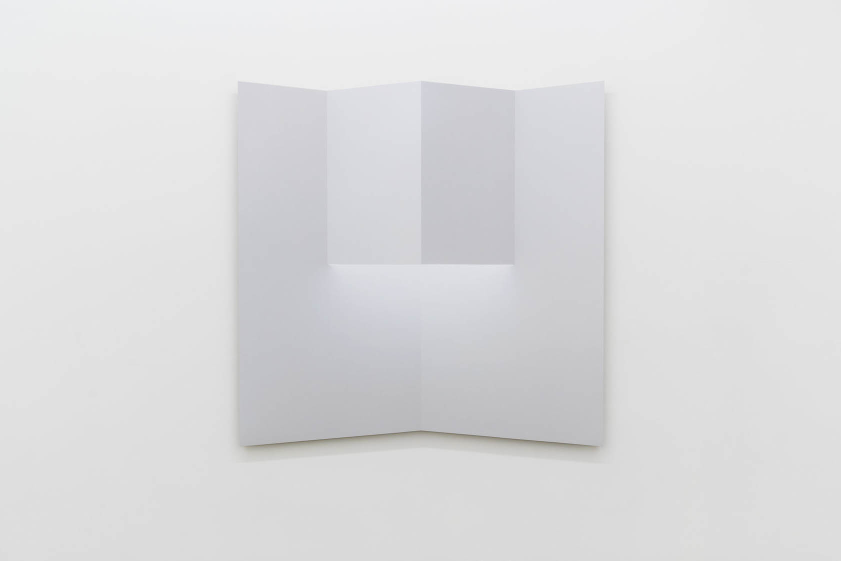 """Caroline Cloutier, Pliage 2 , 2018, ink on paper mounted on aluminum, 42.5"""" x 42.5"""" (108 x 108 cm)"""