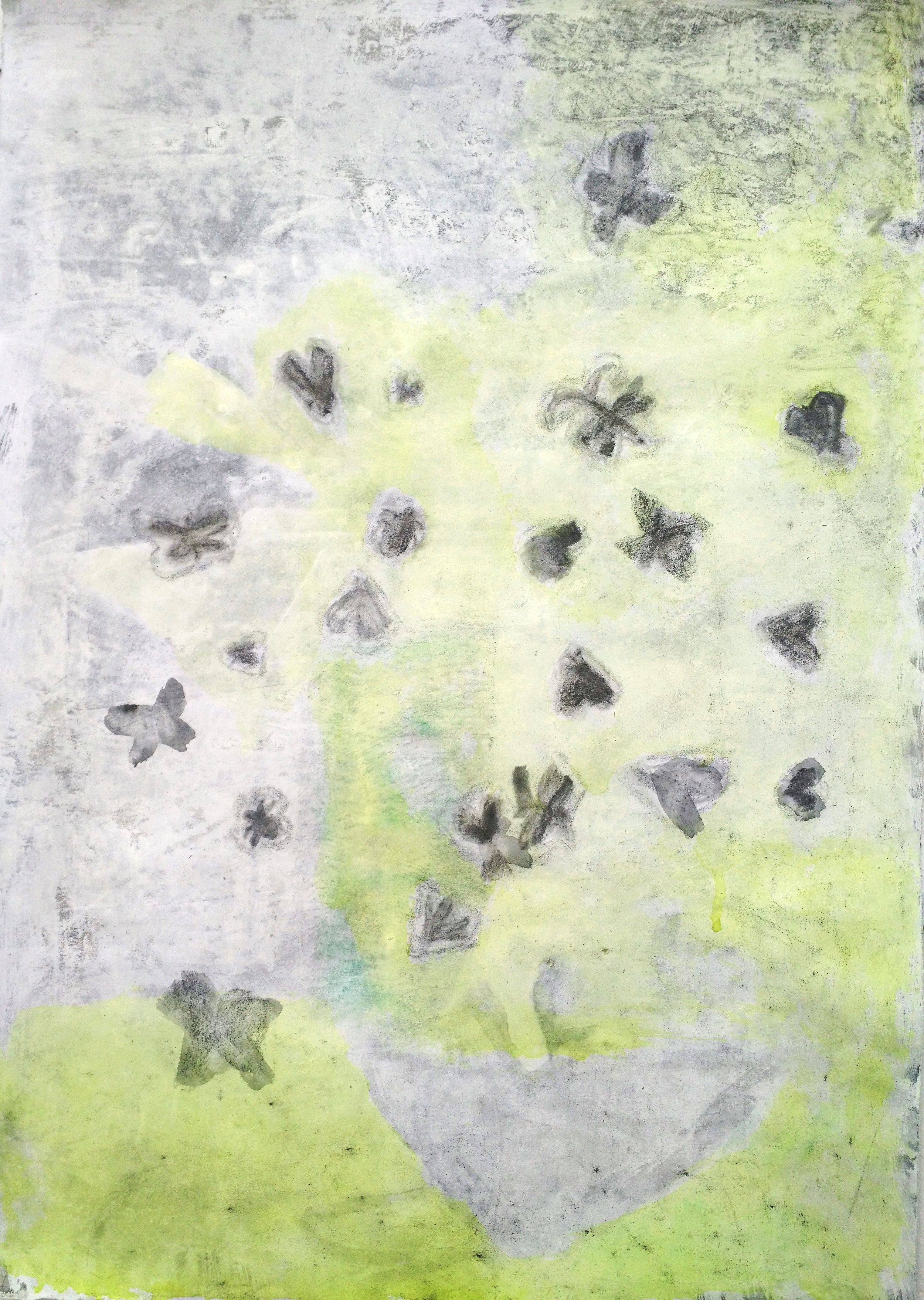 """Laurence Pilon,  It was superb, this last protest , 2019, Watercolour and graphite on prepared paper, 24"""" x 20"""" (61 x 51 cm)"""