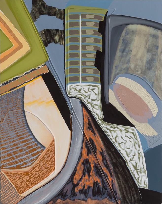 "Magalie Guérin,  Untitled (res 1.1),  2019, oil on canvas on panel, 20"" x 16"" (51 x 41 cm)"