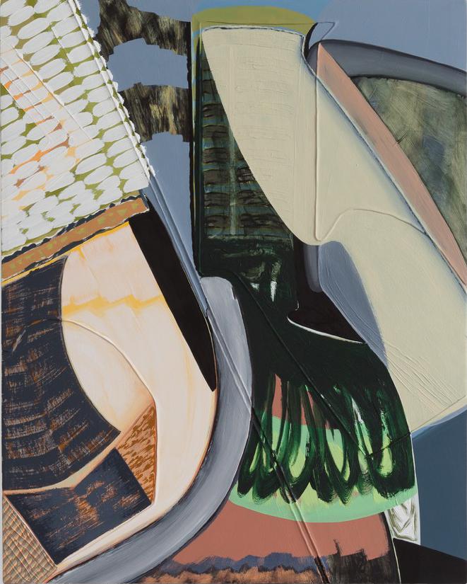 "Magalie Guérin,  Untitled (res 1.2) , 2019, oil on canvas on panel, 20"" x 16"" (51 x 41 cm)"