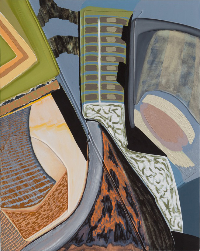 "Magalie Guérin,  Untitled (res 1.1) , 2019, oil on canvas on panel, 20"" x 16"" (51 x 41 cm)"