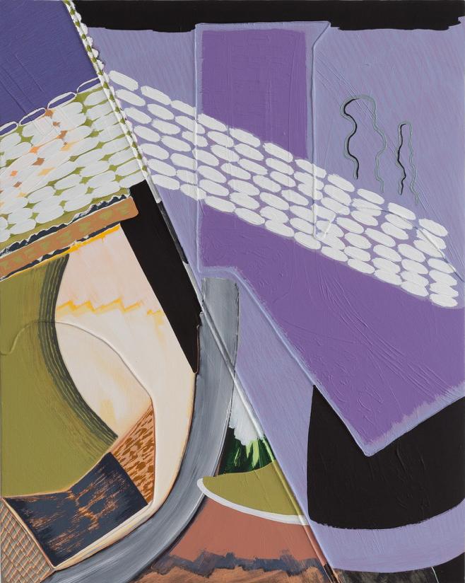 "Magalie Guérin,  Untitled (res 1.4) , 2019, oil on canvas on panel, 20"" x 16"" (51 x 41 cm)"