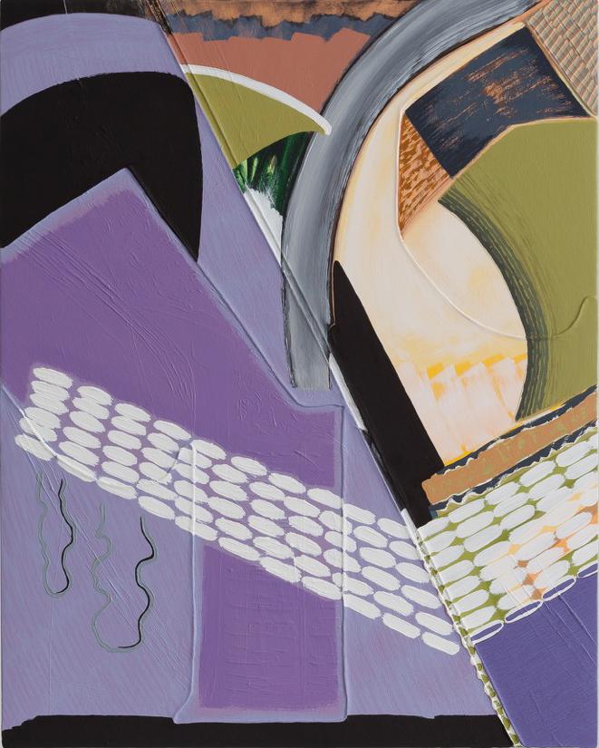 "Magalie Guérin,  Untitled (res 1.5) , 2019, oil on canvas on panel, 20"" x 16"" (51 x 41 cm)"