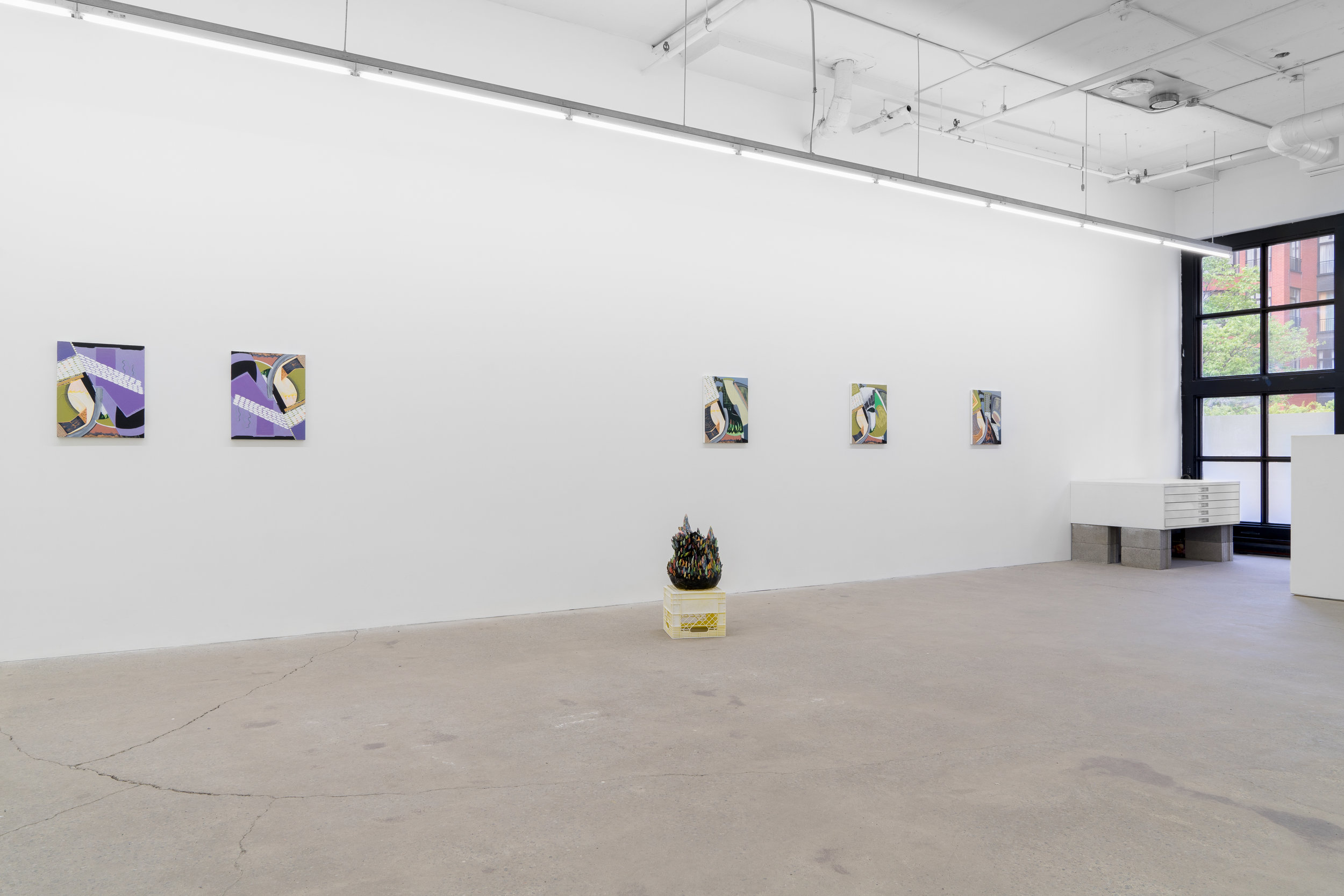 Magalie Guérin & Philippe Caron Lefebvre, 2019, exhibition view, Galerie Nicolas Robert, photo : Jean-Michael Seminaro