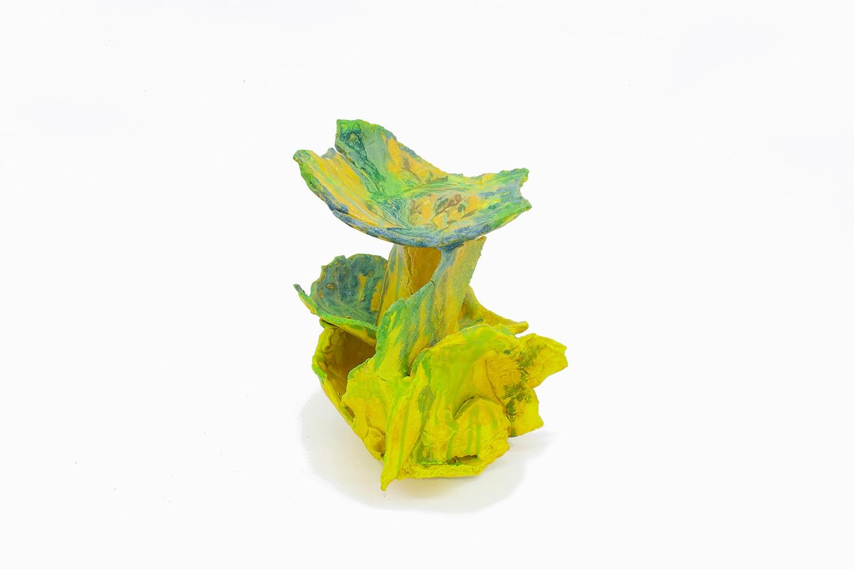 "Philippe Caron Lefebvre,  Hommage psychédélique , 2019, ceramic and glazing, 13"" x 12"" x 10"" (33 x 30 x 25 cm)"