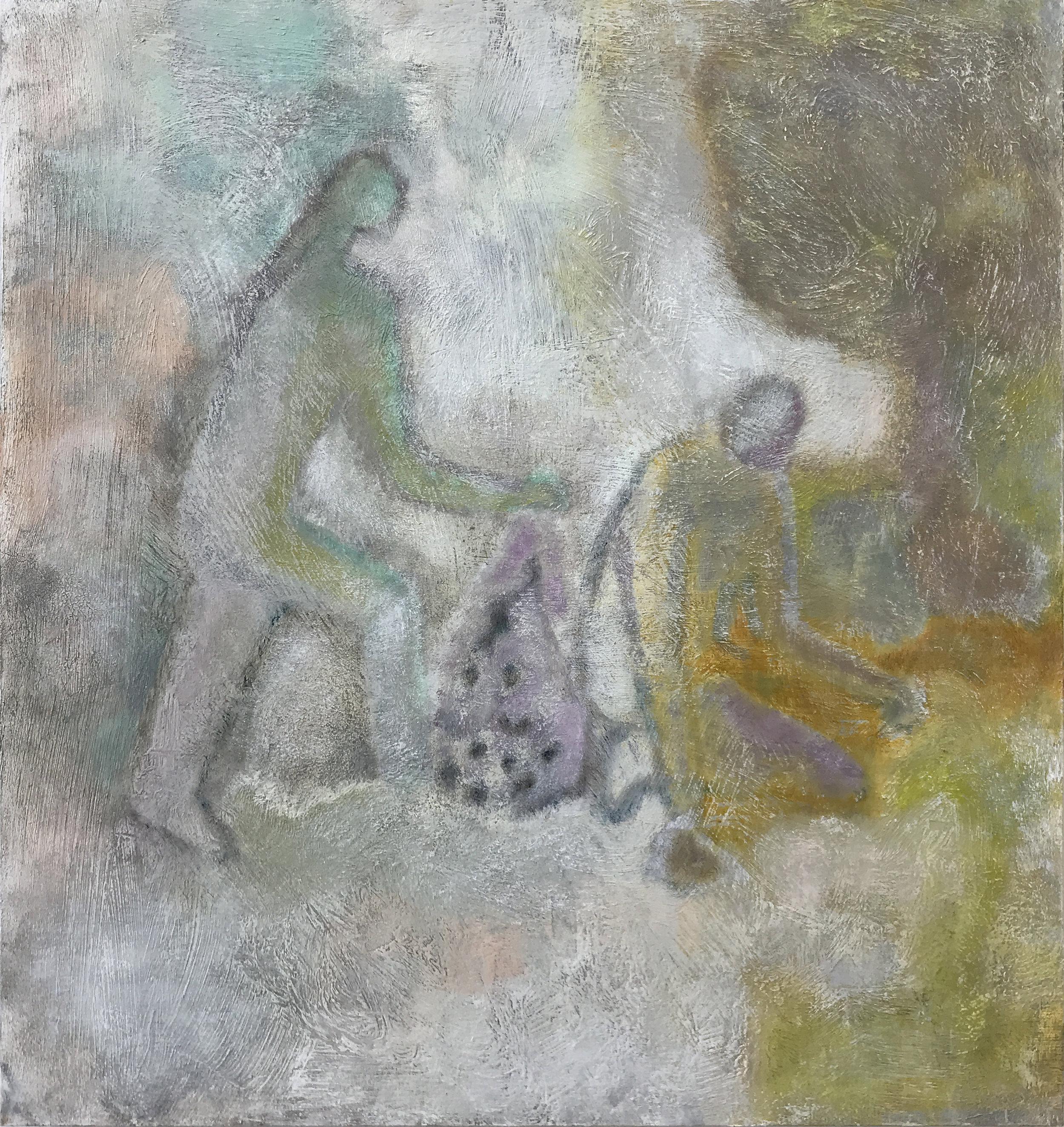 "Laurence Pilon,  Untitled , 2019, oil on panel, 60 x 51 cm (22"" x 20"")"