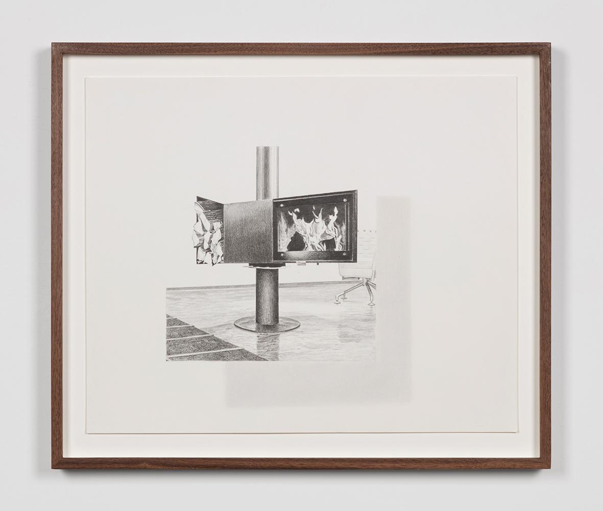 "Tristram Lansdowne,  Illuminations 03 , 2019, graphite on paper, 35.5 x 43 cm (14"" x 17"")"