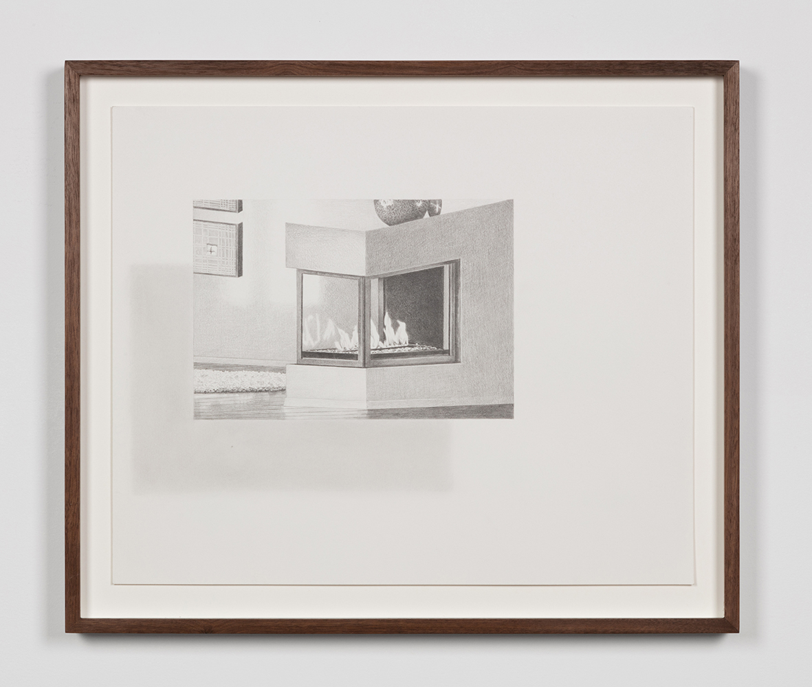 "Tristram Lansdowne,  Illuminations 05 , 2019, graphite on paper, 35.5 x 43 cm (14"" x 17"")"