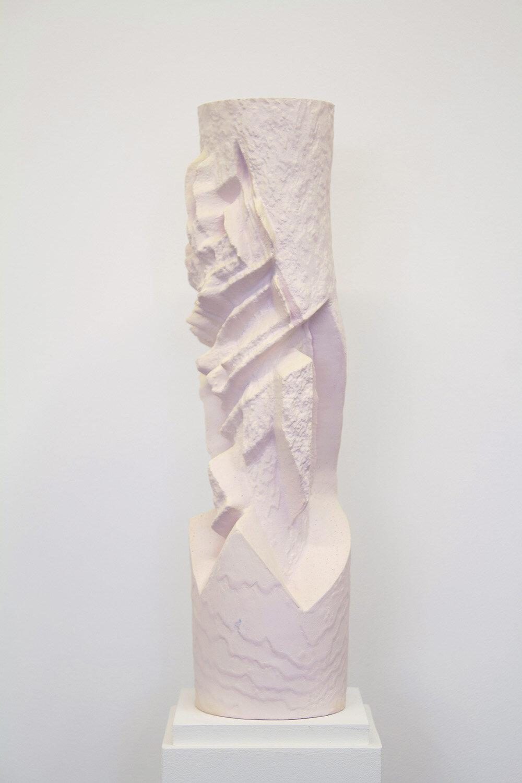 "Tristram Lansdowne,  Residuals no.1, 2019, hydrocal, pigments and paint, 38 x 9.5 x 9.5 cm (15"" x 3.75"" x 3.75"")"