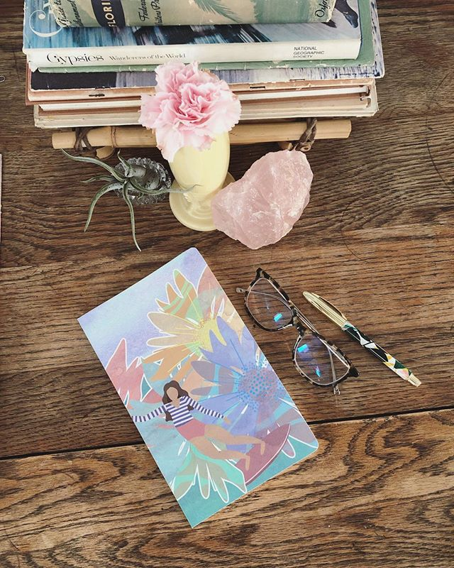 ✨🌸🌊Filling up this little journal quick! thank you Betsy!! @slideintostoke  Perfect to carry around for  notes or to use as a dedicated journal for one of your passions. I use mine for goals, dreams and inspirational quotes 🌊🌸✨