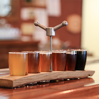 Flight of Woody's beer
