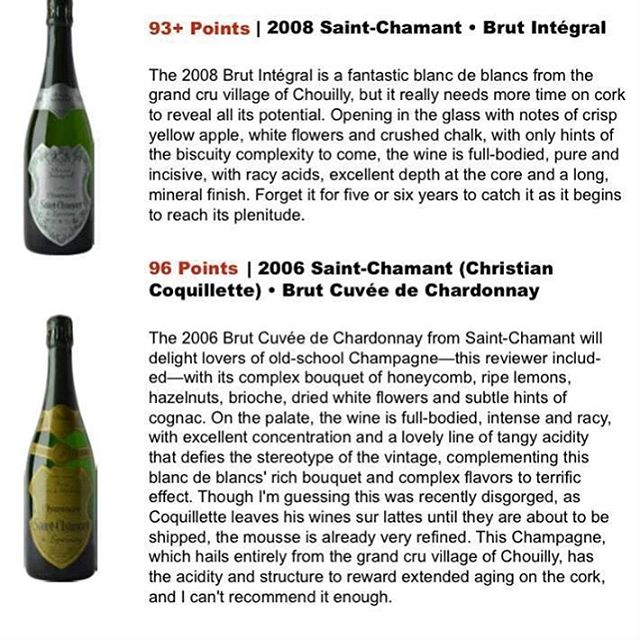 Saint-Chamant is one of my all time favorite champagnes  #champagne #wine
