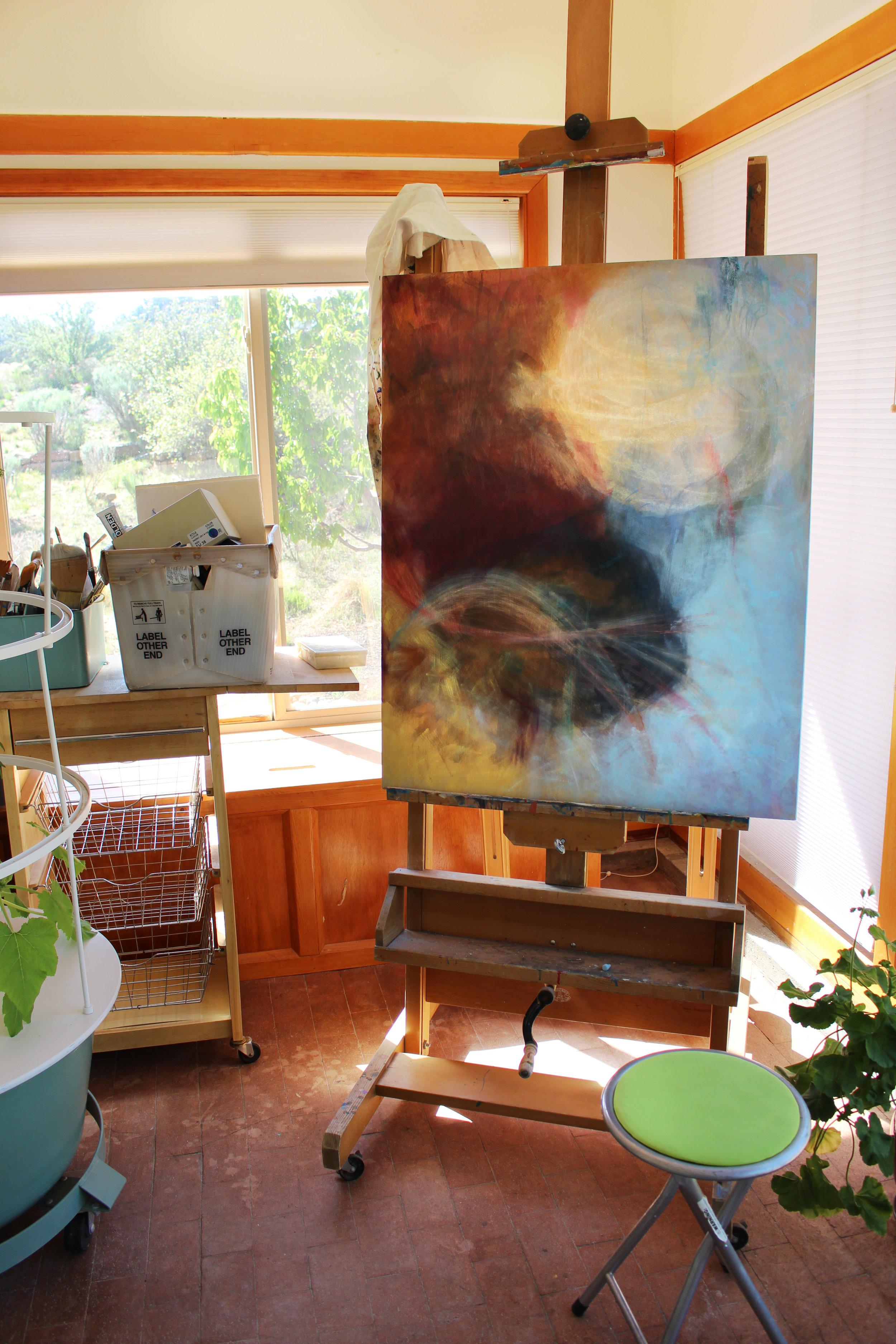 In the studio... Progress of my newest work