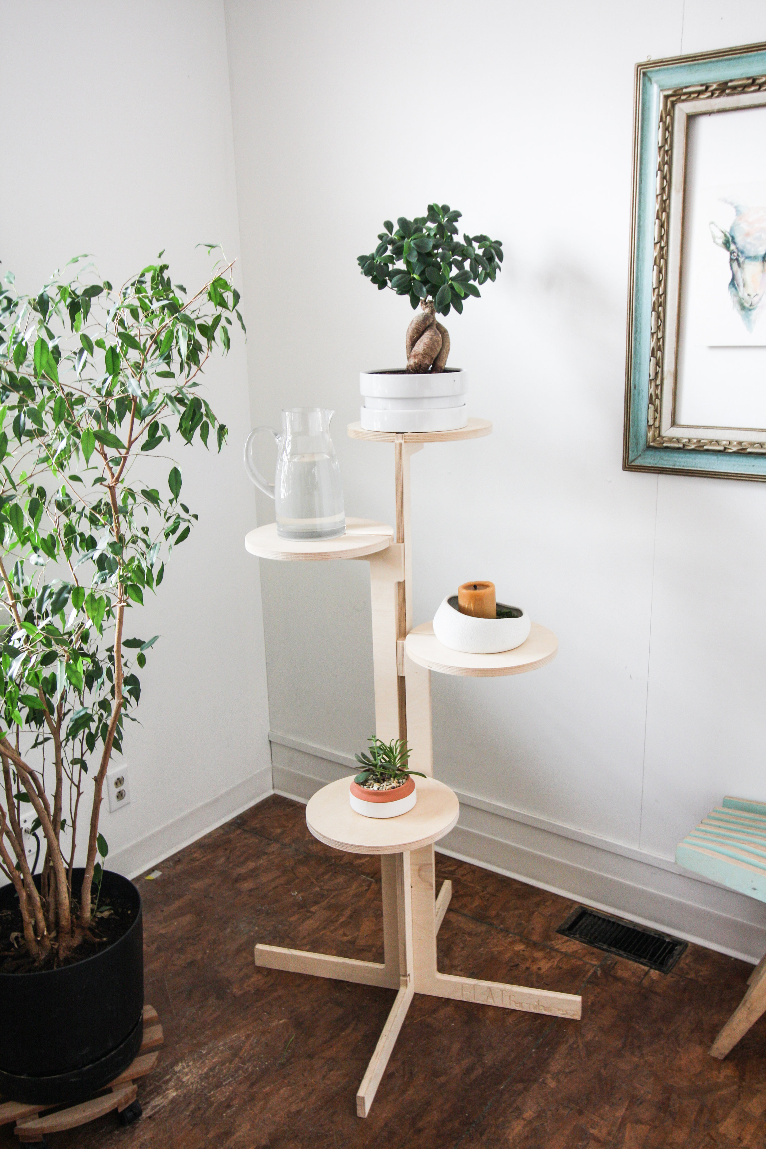 Don't have a cat? The perch can also be a plant holder or shelf system.