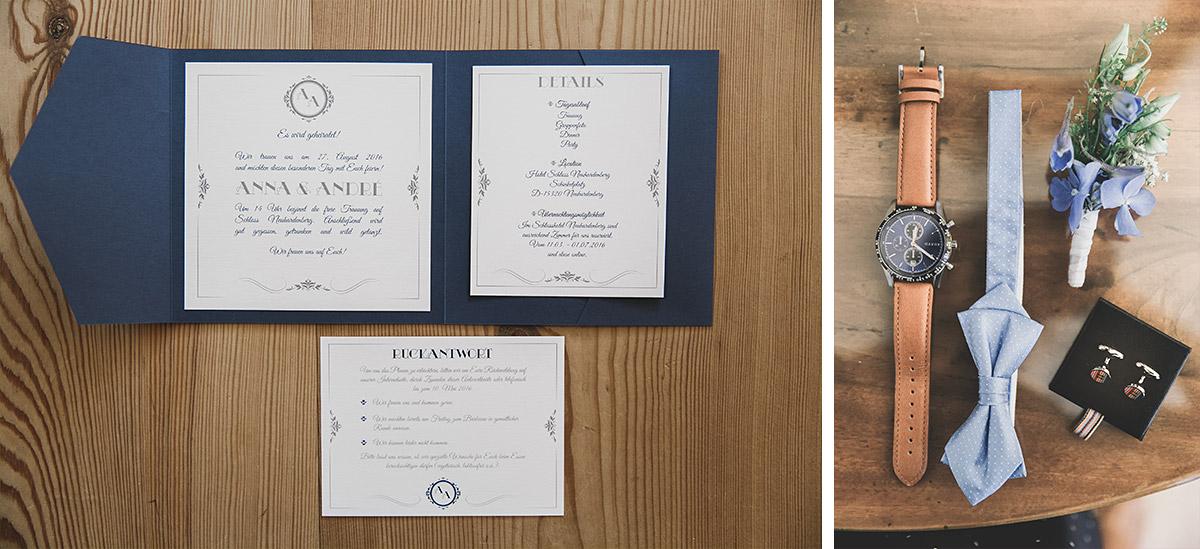 Einladungen für die Hochzeit