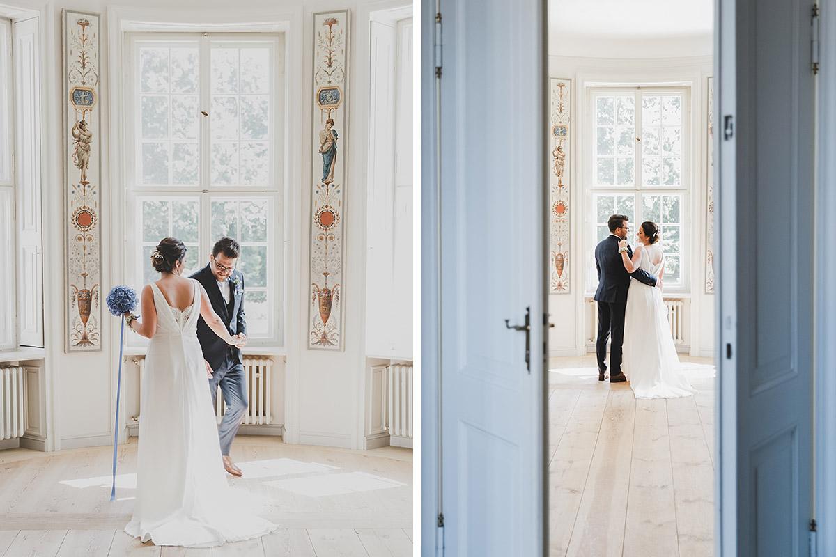Der erste Blick vom Brautpaar