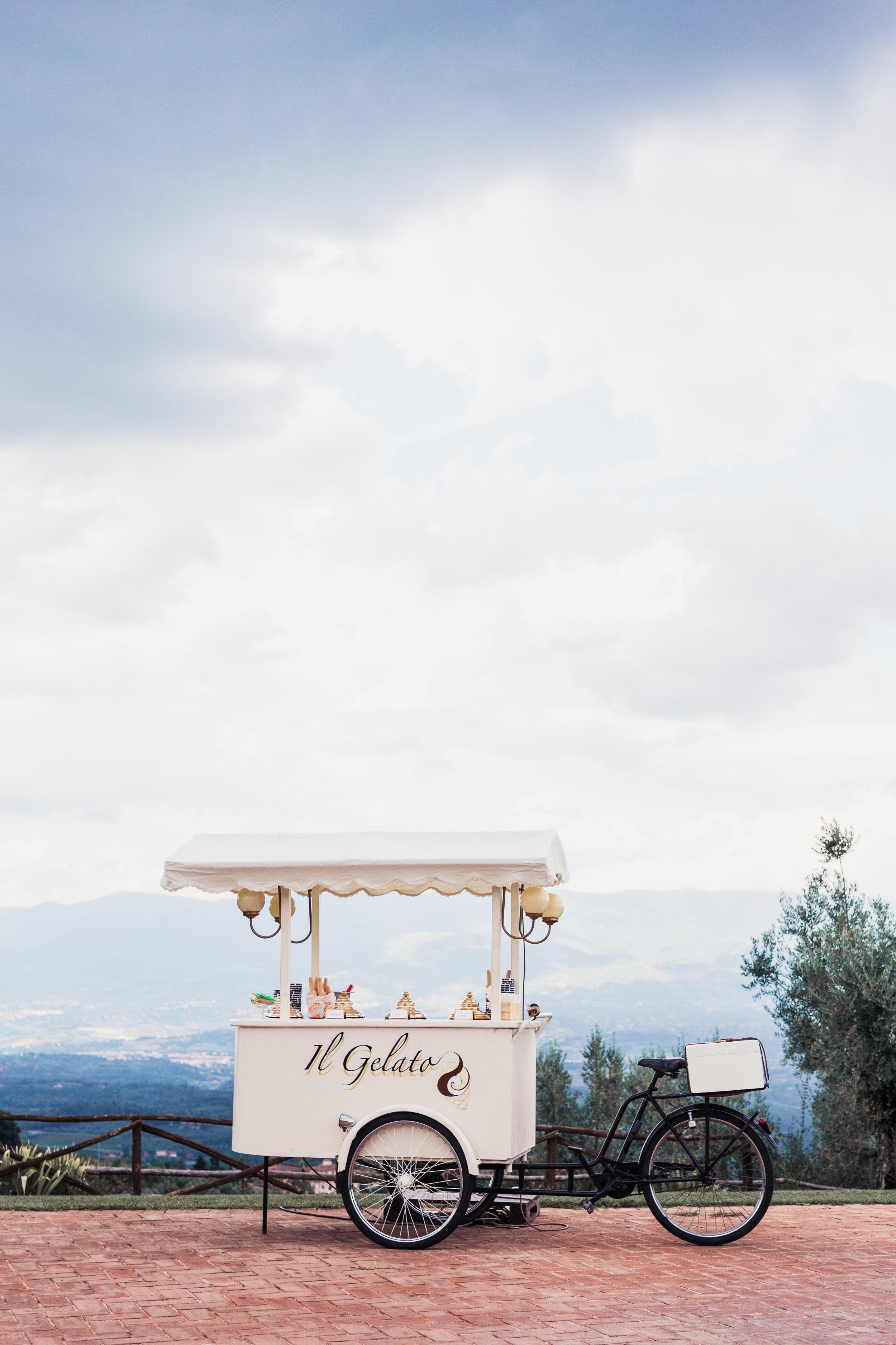 Eiswagen in der Toskana