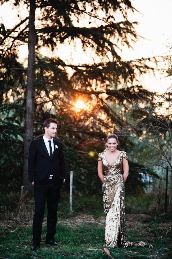 Brautpaar Gold