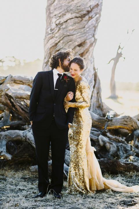 Couple golden wedding