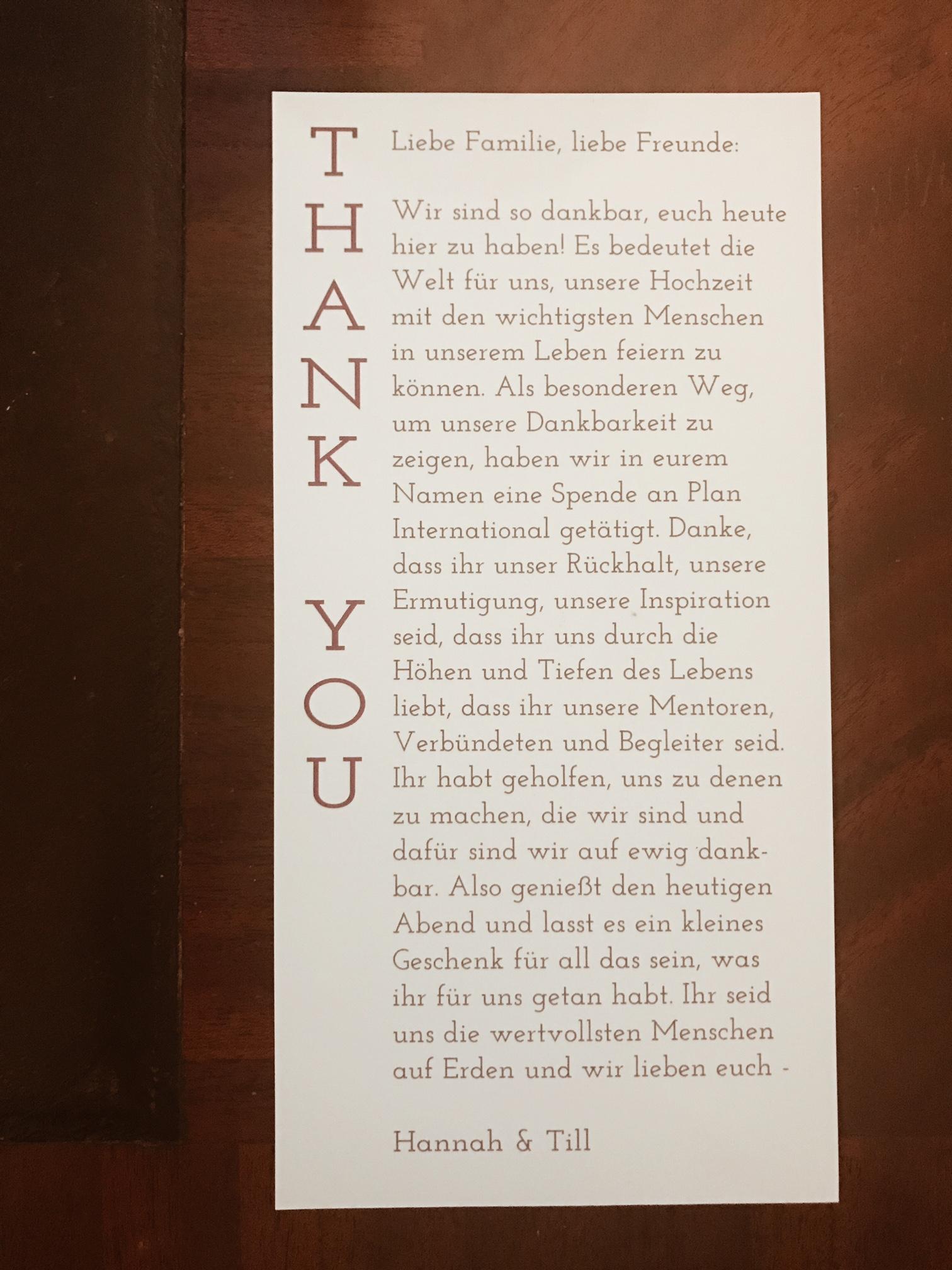 thank you Danke