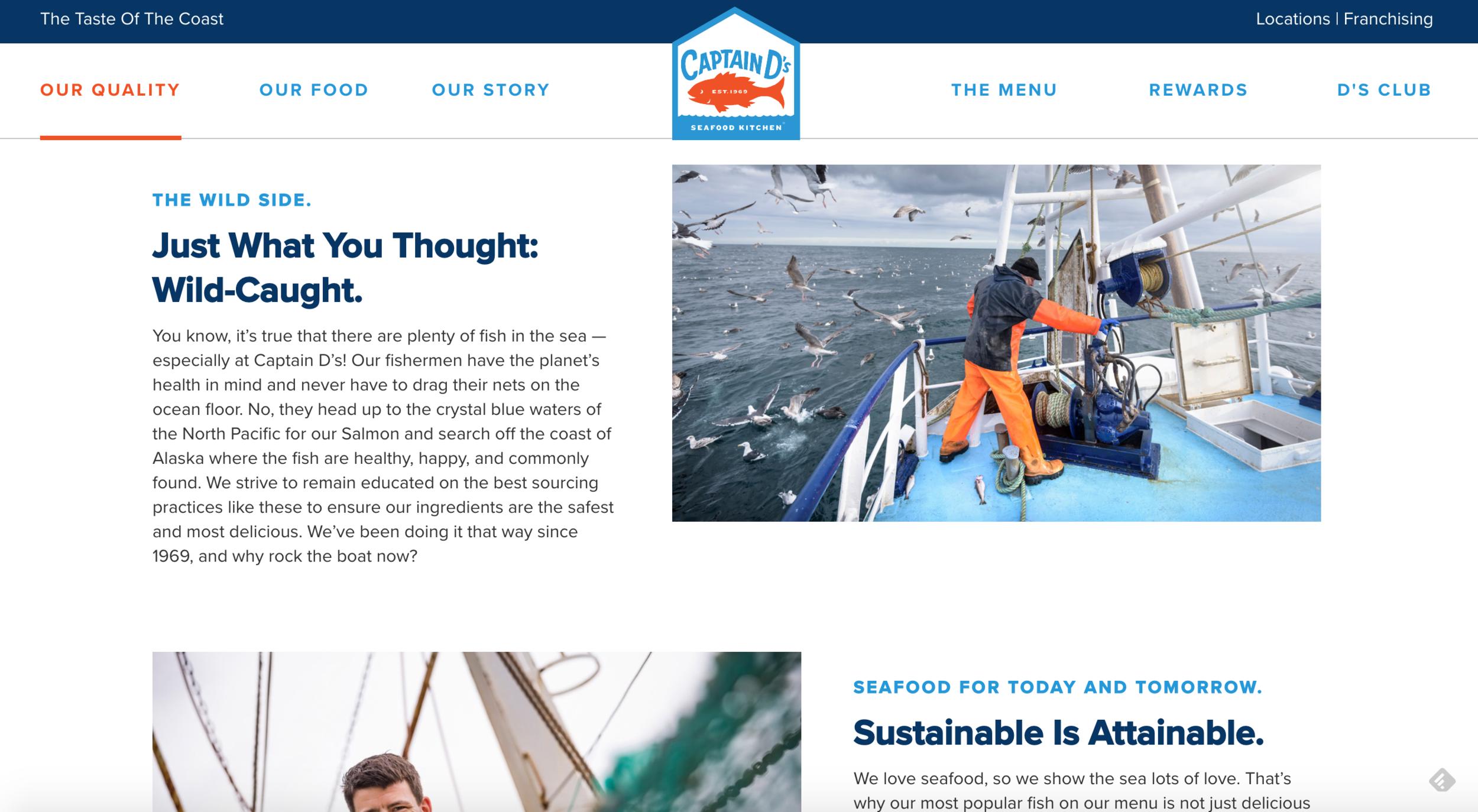 captainds website