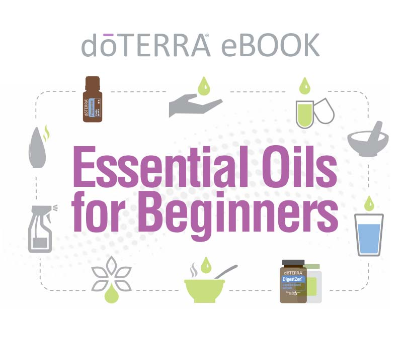 "Free doTERRA eBook, ""Essential Oils for Beginners"" - click on the image to read / download the eBook."