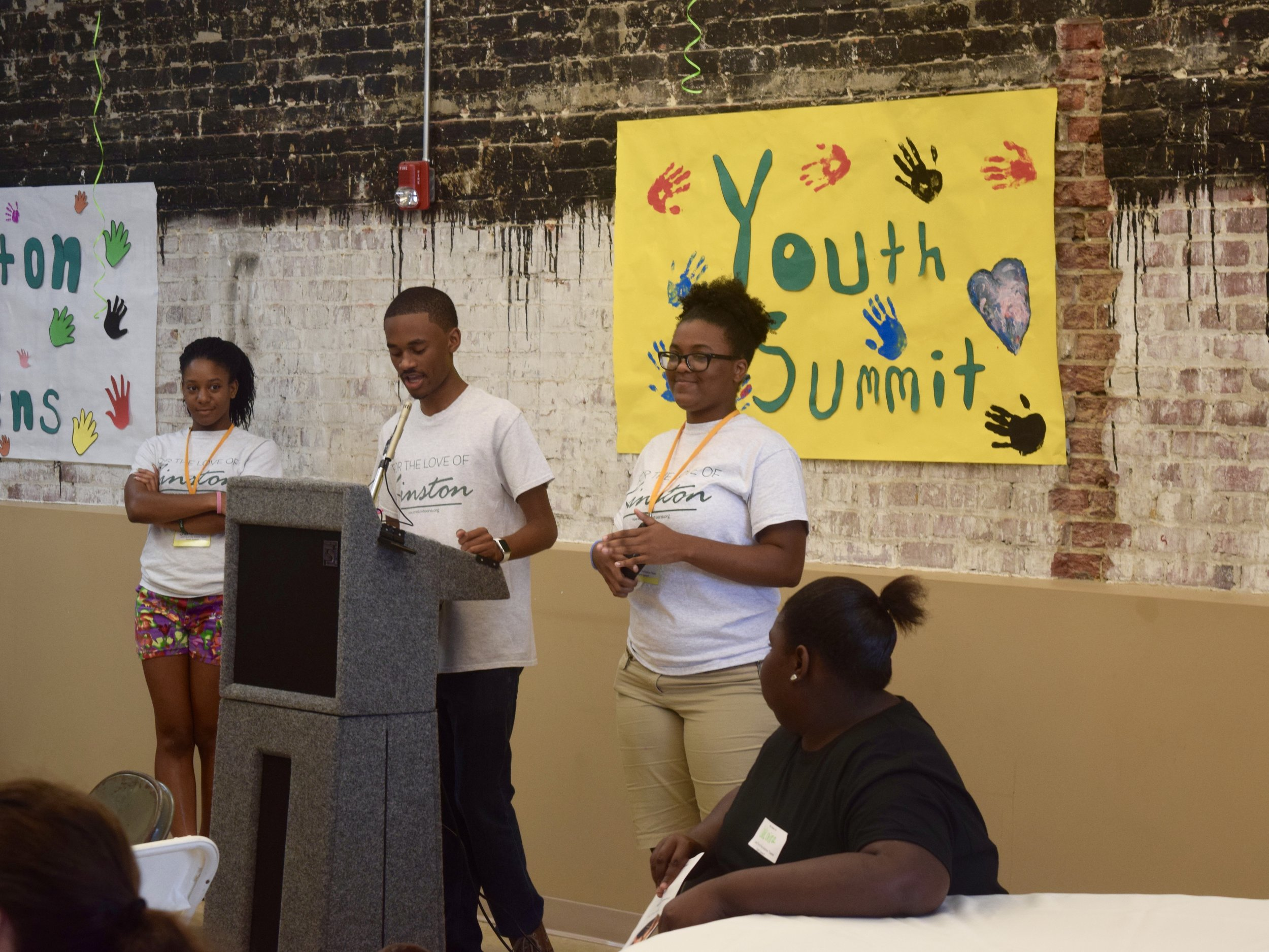 Photo from the opening session of 2016's Youth Leadership Summit at the Kinston Enterprise Center on Saturday, July 22.