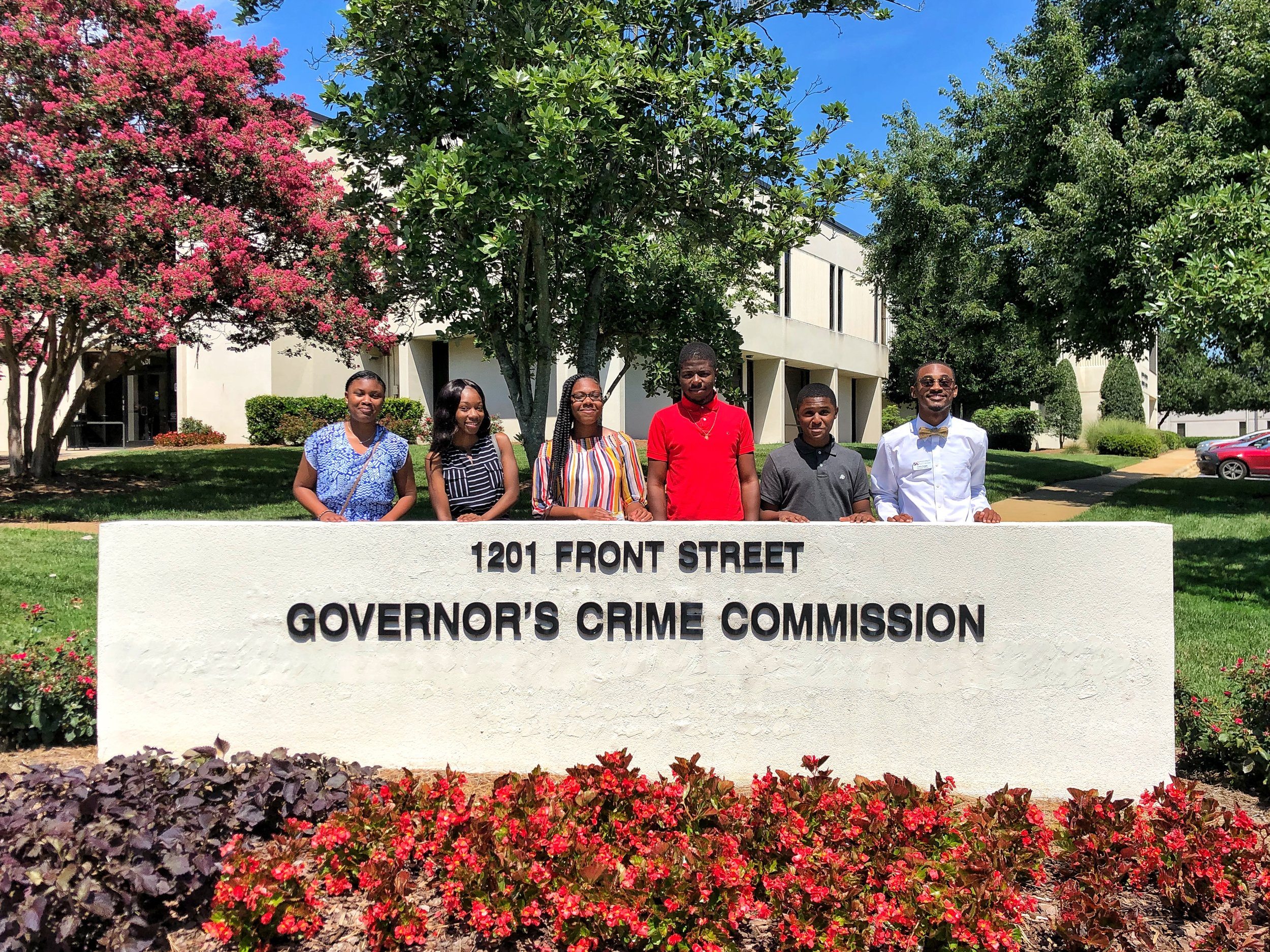 Kinston Teens summer intern team attending the Governor's Crime Commission Special Committee on School Shootings meeting on Thursday, July 19 in Raleigh, North Carolina  (Photo by Kinston Teens)