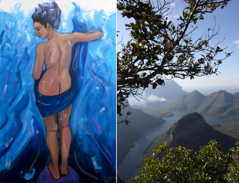 Darcy Lynn, painting (left) and Lloyd Campbell, photography (right)