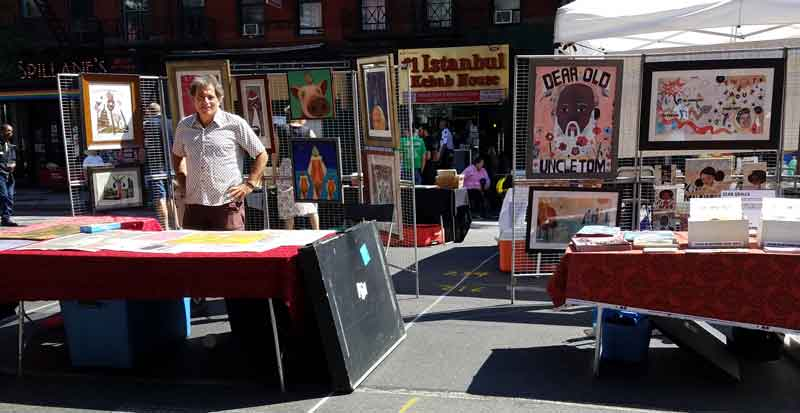 FInd a great selection of original art at The Artists Block, Fifth Avenue between 1st and 2nd Streets