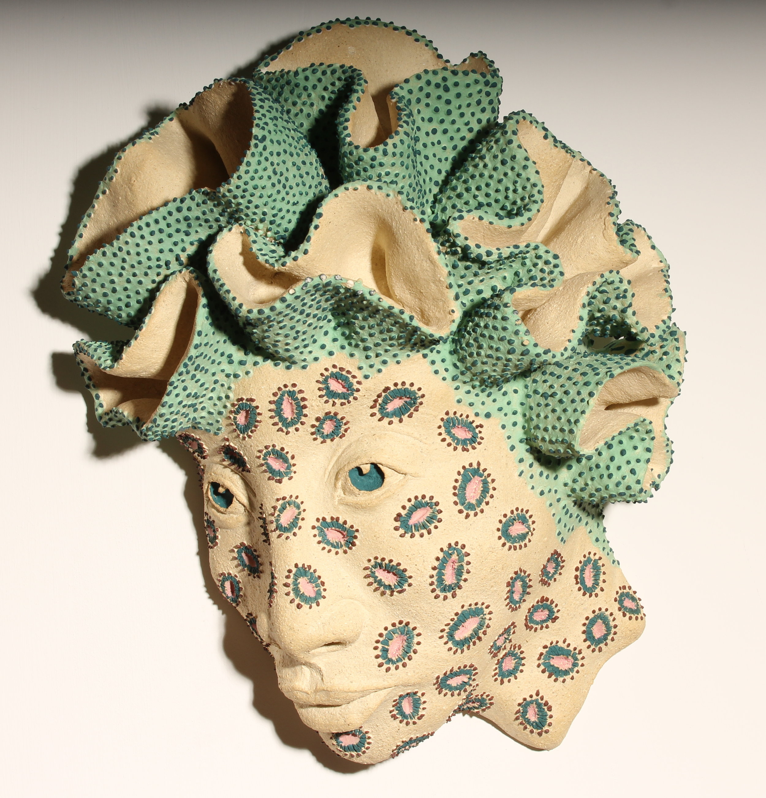 One of nine heads in Sandra Giunta's  Coralized Series