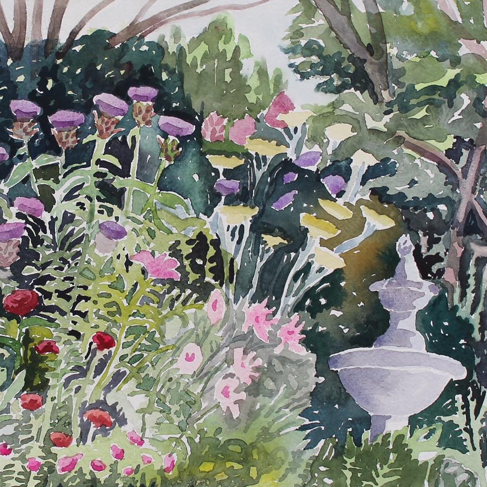 Susan Greenstein's watercolor show On Sight continues at Founders Workspace through December 30.