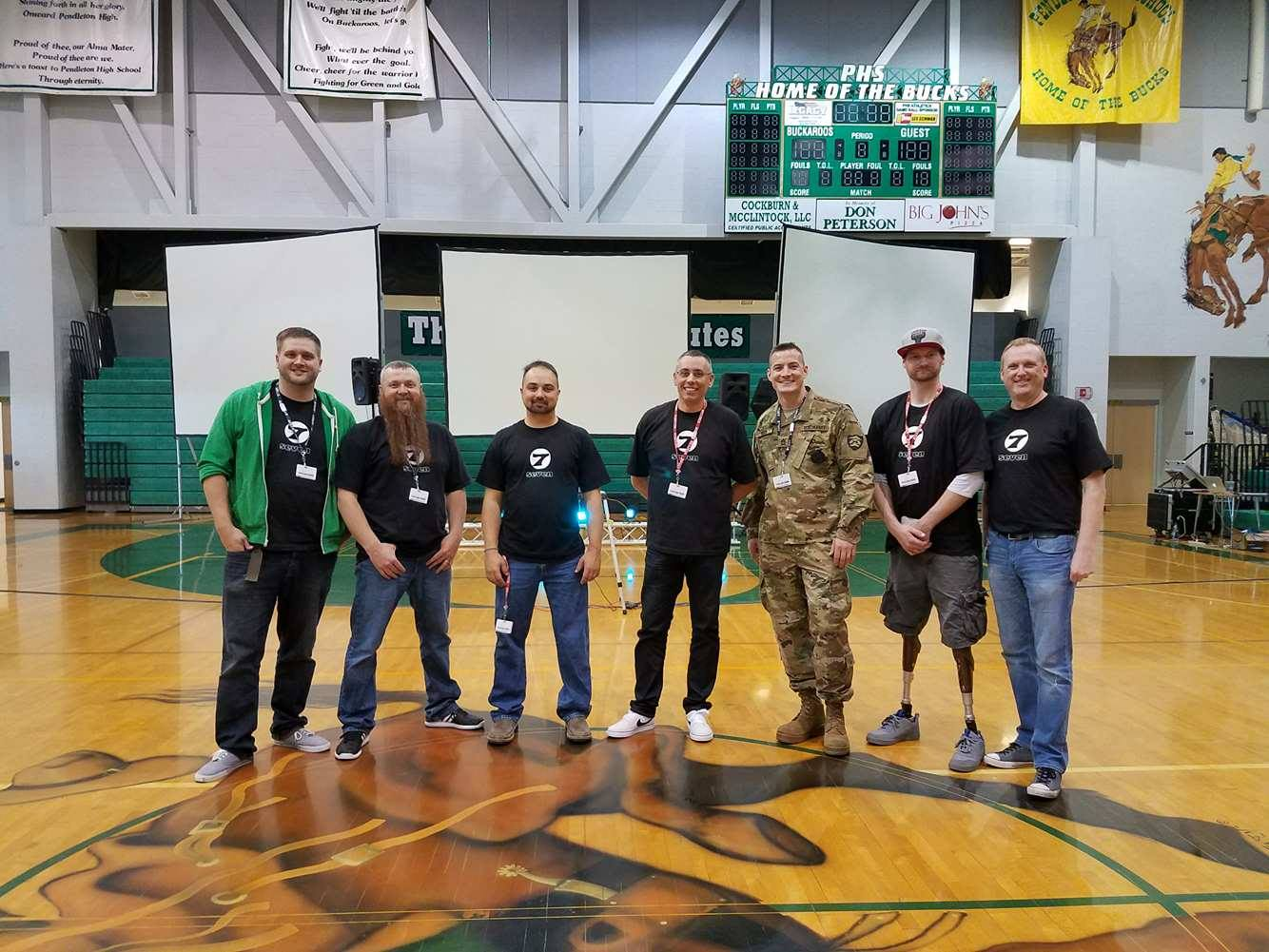 Pictured is the presenters that shared their stories to the students in the schools in Pendleton, Or.