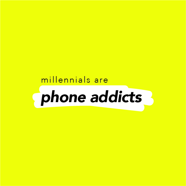 Millennial Scumbags with The Fancys Millennials are phone addicts