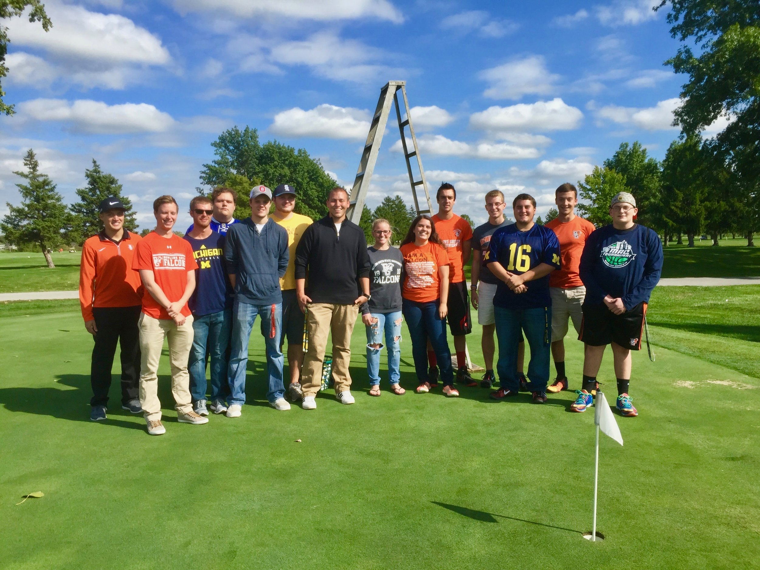 Director: Jordan Cason-White - The Event Planning Committee is tasked with creating and running events that are primarily geared towards organizational fund raising. The Golf Ball Drop (pictured left) has been an annual event that doubles as a 50/50 raffle. In 2017, the drop raised over $200 for SMA and a BGSU student won $209. Other events in 2018 included a 3v3 basketball tournament and a Buffalo Wild Wings fundraiser.Jordan can be contacted at jcasonw@bgsu.edu