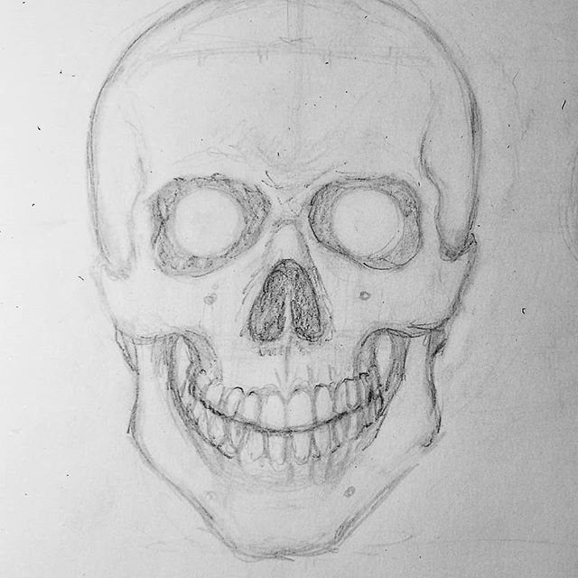 I am still alive and removing some dust on social media... Study of a male human  skull.  #skull #skulls #skeleton #skeletons #artistfrommontreal #anatomy #anatomydrawing #death #macabre #horror #darkart #studydrawing #drawdrawdraw #humanhead #human #maleanatomy #skinless #drawdaily #drawingsketch #drawing #proko #skullstudy