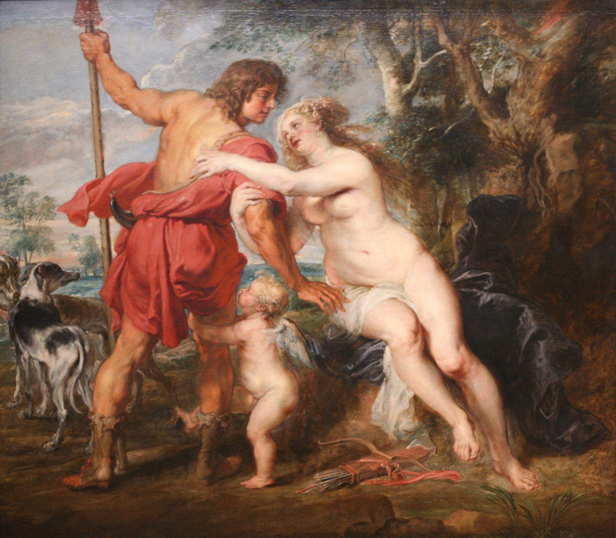 ''Venus and Adonis'' by Peter Paul Rubens