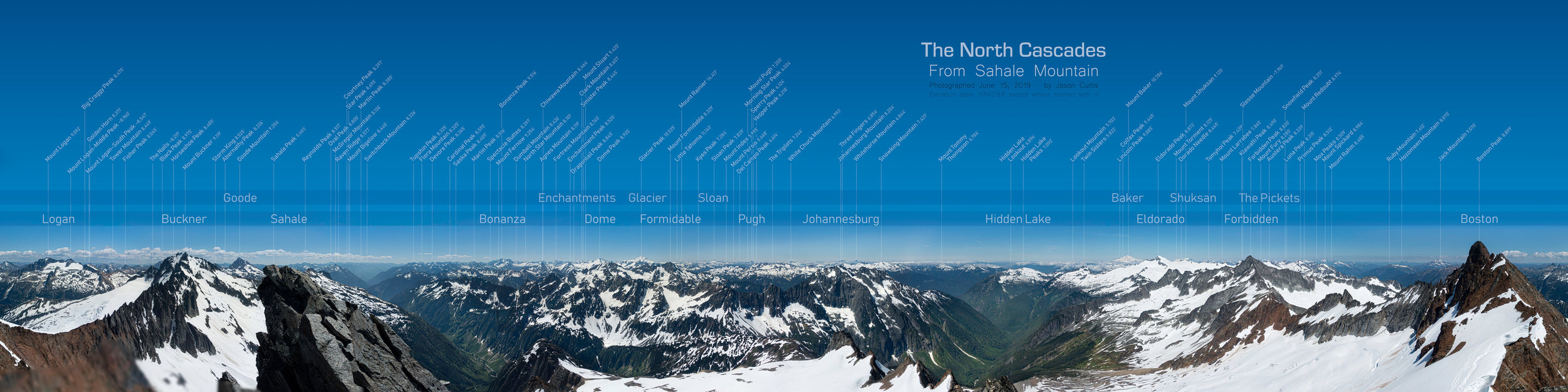 Sahale Peak panorama