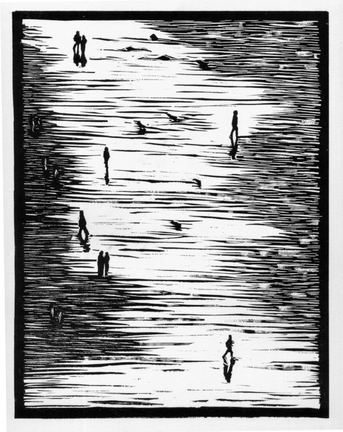 For Fred Lyon, Linoleum, 2015