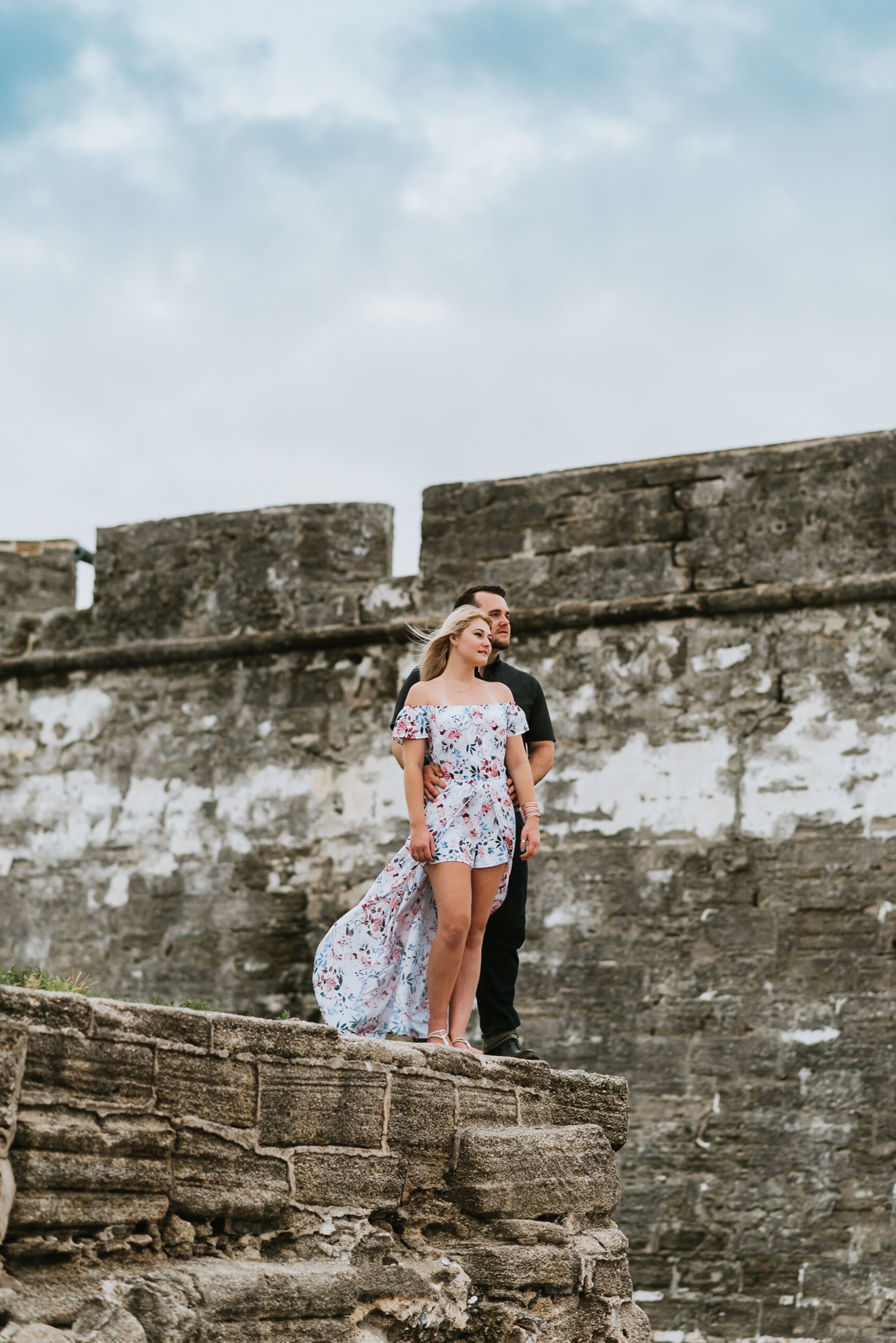 Tampa Florida Couples Photographer, Engagement Session in St. Augustine Florida, Engagement Location in Florida, Castillo de San Marcos, Florida Engagement Photographer, Tampa Florida Photographer