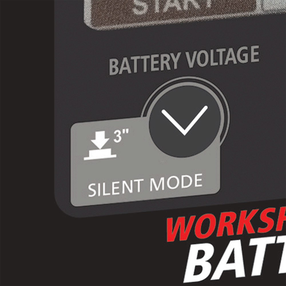 Multi-voltage operation  The Workshop charger range features multi-voltage operation, ideal for industrial environments where 6V, 12V or 24V batteries are often utilised.