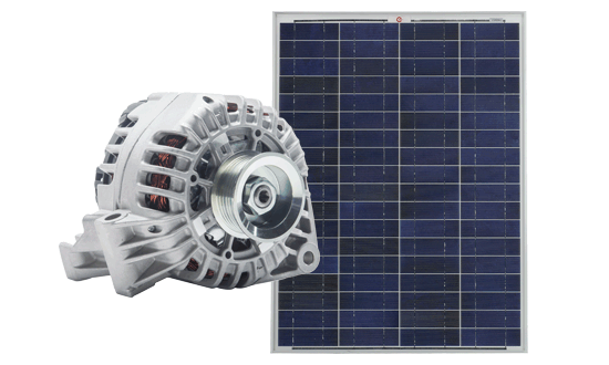 Dual Charging Modes / Dual Input Operation  Simultaneous dual battery charging from both solar and alternator inputs